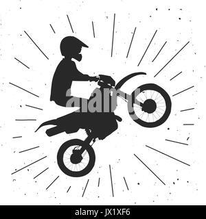 Enduro bike hand drawn illustration. - Stock Photo