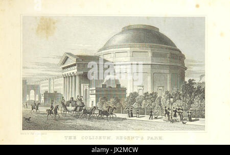 The Coliseum, Regent's Park   Shepherd, Metropolitan Improvements (1828), p191 - Stock Photo