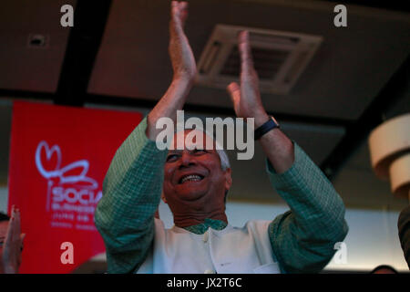 Portrait of Nobel Prize Laureate Professor Muhammad Yunus, who won the Nobel Peace Prize in 2006, on June 28, 2014 - Stock Photo