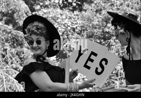 Bethan Garland and Fleur de Guerre of The Vintage Mafia, at The 2015, Chap Olympiad, London.