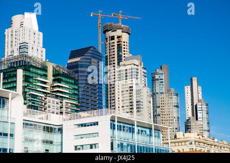 Skyscrapers seen in Puerto Madero, Buenos Aires, Argentina - Stock Photo