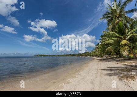 Hin Kong Beach Koh Phangan island Thailand - Stock Photo