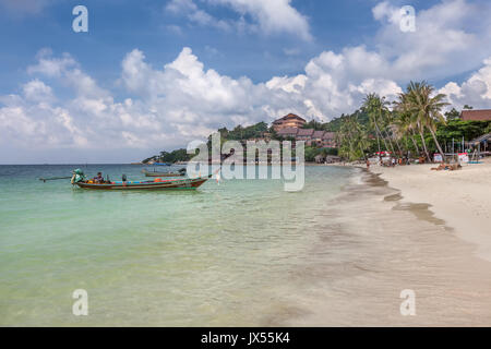 Haad Yao Beach Koh Phangan island Thailand - Stock Photo