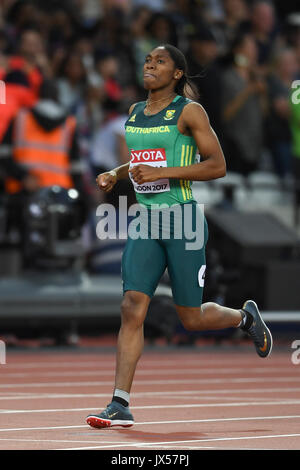 London, UK.  13 August 2017. Caster Semenya (South Africa) wins the women's 800m.  Final session at the London Stadium, - Stock Photo