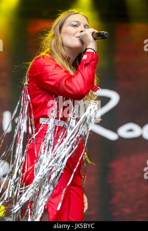 August 13, 2017 - San Francisco, California, U.S - MAGGIE ROGERS during the Outside Lands Music Festival at Golden - Stock Photo