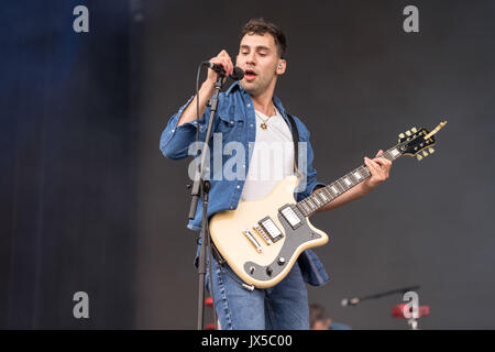August 13, 2017 - San Francisco, California, U.S - JACK ANTONOFF of Bleachers during the Outside Lands Music Festival - Stock Photo