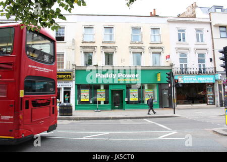 London, UK. 27th July, 2017. A Paddy Power betting shop near Westbourne Park in London, UK, 27 July 2017. Photo: - Stock Photo