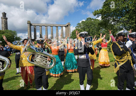 Edinburgh, UK. 15th Aug, 2017. As part of the UK-India Year of Culture 2017 and Indian Independence Day Celebrations - Stock Photo
