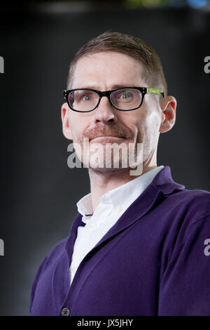 Edinburgh, UK. 15th Aug, 2017. Kevin MacNeil, the Scottish novelist, appearing at the Edinburgh International Book - Stock Photo