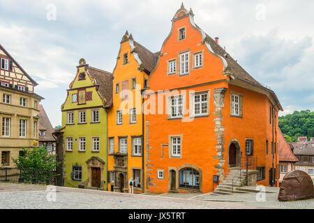 Cityscape of Schwaebisch Hall, Germany - Stock Photo