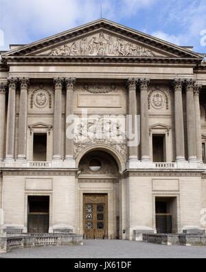 Paris,France- April 30, 2017:The Louvre. Colonade