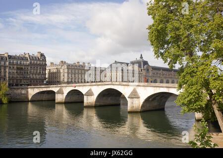 Paris,France- April 30, 2017:  View of the Pont Royal bridge