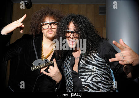 Redfoo Sky Blu LMFAO attends post GRAMMY party Conga Room January 31,2010 Los Angeles. - Stock Photo