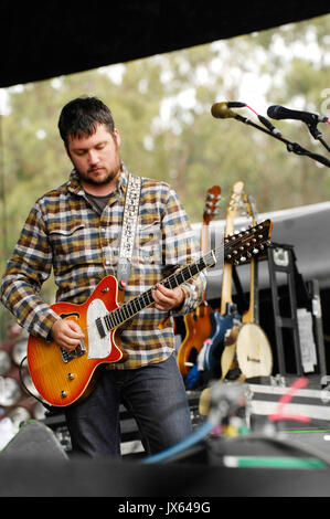 Isaac Brock Modest Mouse performs 2009 Outside Lands Festival Golden Gate Park August 30,2009 San Francisco. - Stock Photo