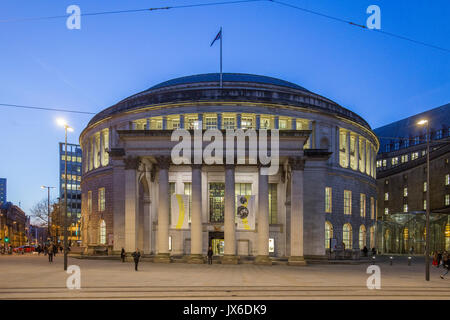 Manchester Central Library - the headquarters of the city's library and information service in Manchester, England. - Stock Photo