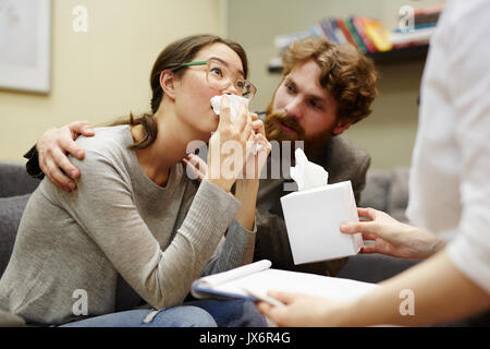 Listening to counselor - Stock Photo