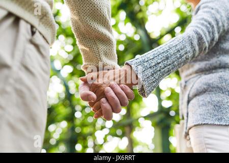 Affection of seniors - Stock Photo