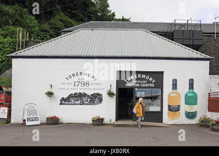 Tobermory Distillery, Visitor Centre, Tobermory, Isle of Mull - Stock Photo