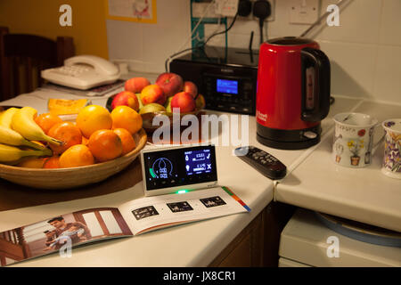 A new consumer Smart Meter provided by British gas,  part of a government led national upgrade scheme to improve - Stock Photo