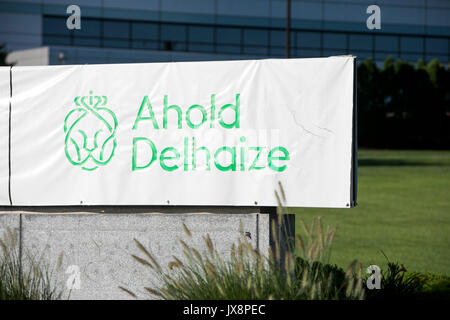 A logo sign outside of a facility occupied by Ahold Delhaize in Carlisle, Pennsylvania on July 30, 2017. - Stock Photo