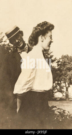 Women and men having fun. Minnesota 1907 1908 - Stock Photo