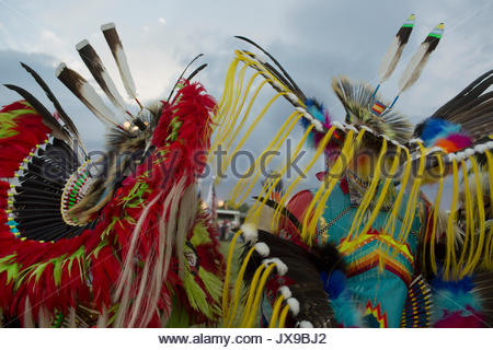 The Crow Fair in Crow Agency, Montana. - Stock Photo