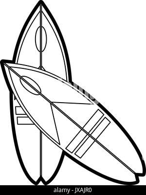 surf vector illustration - Stock Photo