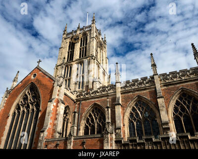 Hull Minster in the Old Town Hull Yorkshire England - Stock Photo