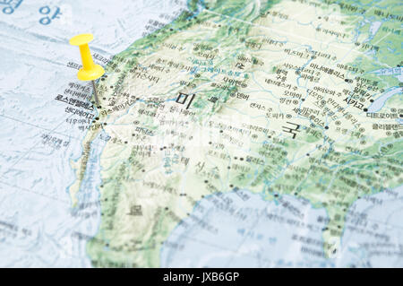 Close Up Map Of Los Angeles Stock Photo Royalty Free Image - Los angeles us map