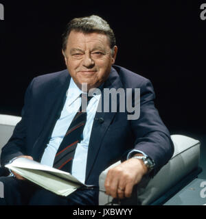 Deutscher Politiker Franz Josef Strauß, Deutschland 1980er Jahre. German politician Franz Josef Strauss, Germany - Stock Photo