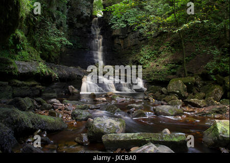 Mill Gill Force Waterfall outside the village of Askrigg near Hawes in the Yorkshire Dales National Park, North - Stock Photo
