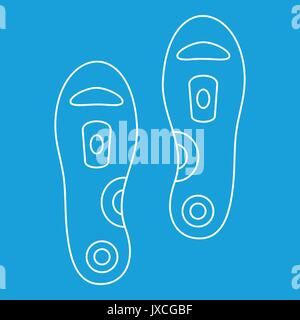 Orthopedic insoles icon, outline style - Stock Photo