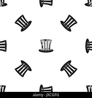 uncle sam hat pattern seamless stock vector art illustration
