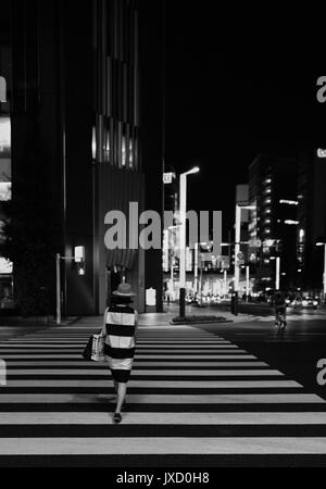 A Pedestrian Crossing, Ginza Lights - Stock Photo