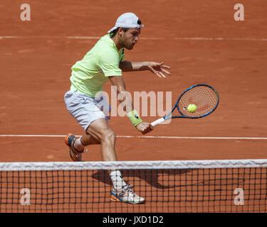 JOAO SOUSA (POR)  Tennis - French Open 2017 - Grand Slam ATP / WTA -  Roland Garros - Paris -  - France  - 31 May - Stock Photo
