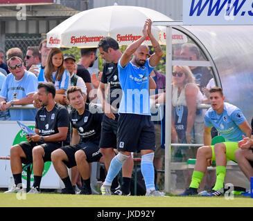 05.08.2017, Fussball Regionalliga Bayern 2017/2018, 5.Spieltag,  SV Schalding-Heining - TSV 1860 München, Städtische - Stock Photo