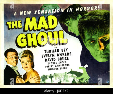 THE MAD GHOUL 1943 Universal Pictures sci-fi film - Stock Photo