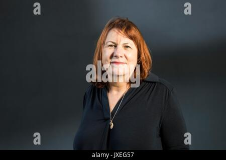Edinburgh, UK. 16th Aug, 2017.  Linda Grant appearing at the Edinburgh International Book Festival Linda Grant is - Stock Photo