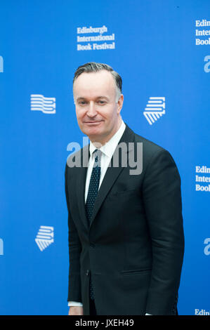 Edinburgh, UK. 16th Aug, 2017. Andrew O'Hagan Scottish novelist and non-fiction author appearing at the Edinburgh - Stock Photo