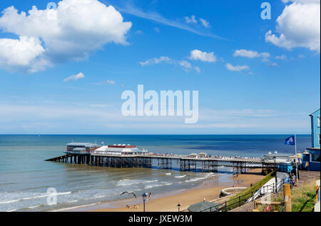 Cromer Pier. Beach and pier in Cromer, Norfolk, England, UK - Stock Photo