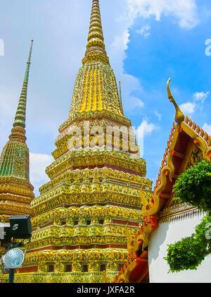 Bangkok, Thailand - June 30, 2008: The palace of the king - Stock Photo