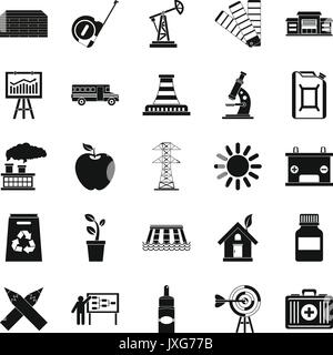 Charge icons set, simple style - Stock Photo