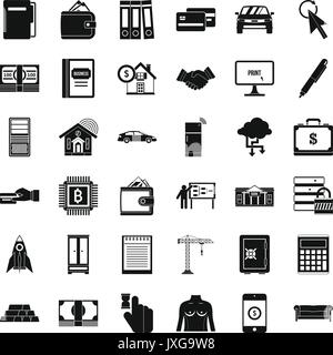 Credit icons set, simple style - Stock Photo