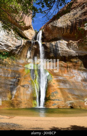 Lower Calf Creek Falls, Grand Staircase-Escalante National Monument, near Boulder, Utah, USA - Stock Photo