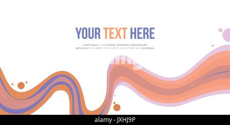 Abstract background header wave collection - Stock Photo
