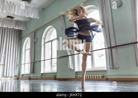 Dancer in ballet hall - Stock Photo
