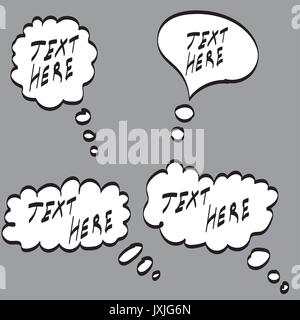 vector illustration abstract speech or thought bubble - Stock Photo