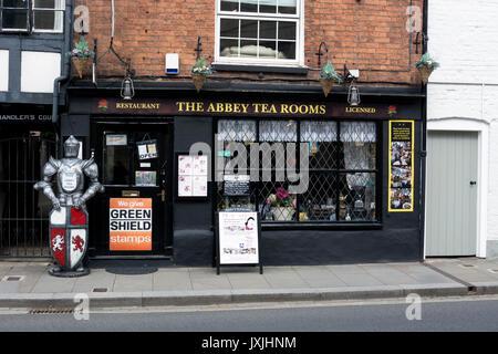 The Abbey Tea Rooms, Tewkesbury, Gloucestershire, England, UK - Stock Photo