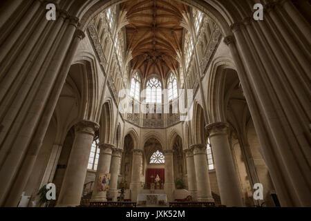 Falaise,Calvados,Normandy,France. Church of the Holy Trinity. Aug 2017 The Church of the Holy Trinity in Falaise - Stock Photo