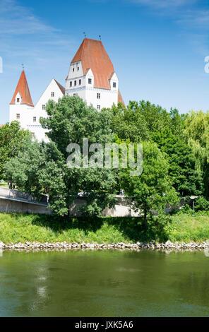 INGOLSTADT, GERMANY - JUNE 14: The Neues Schloss castle in Ingolstadt, Germany on June 14, 2017. The castle hosts - Stock Photo
